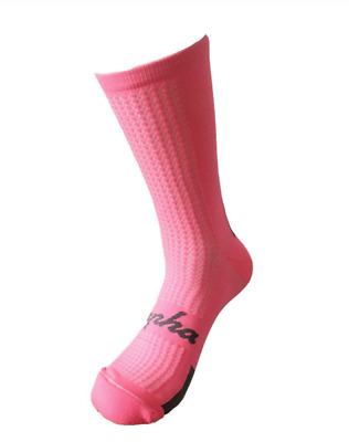 Rapha Cycling Socks Regular Medium-Large - Pink/Grey - Soft To The Touch • 9.99£