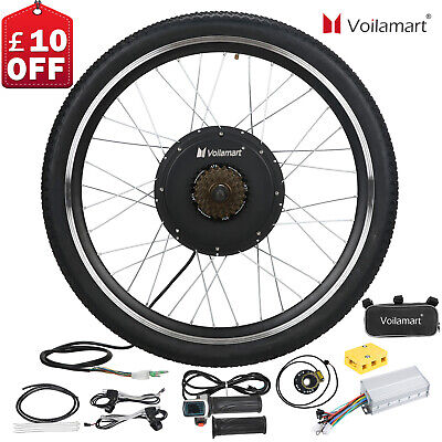 Voilamart 1500W 48V Electric Bicycle Conversion Kit EBike Rear Wheel 26 Cycling • 256.99£
