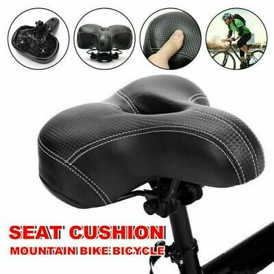 Universal MTB Extra Wide Comfy Cushioned Bike Seat Soft Pad Bicycle Gel Saddle • 6.43£