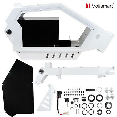 Electric Bicycle E Bike Frame Kit Stealth Bomber Electric Bicycle Frame White • 183.99£