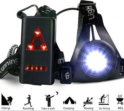 Waterproof LED Running Chest Lamp Warning Light Walking Torch Night Flash Sports • 12.69£