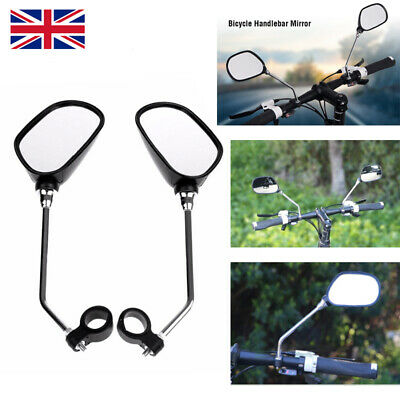 1Pair Bicycle Mobility Scooter Mountain Bike Handlebar Rear View Mirror Black • 8.54£