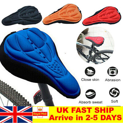 Bike Comfort Soft Gel Pad Comfy Cushion Saddle Seat Cover Bicycle Cycle UK • 2.99£