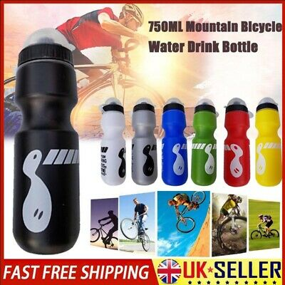 750ML Mountain Bike Bicycle Cycling Water Drink Bottle Water Container SPORT UK • 3.66£