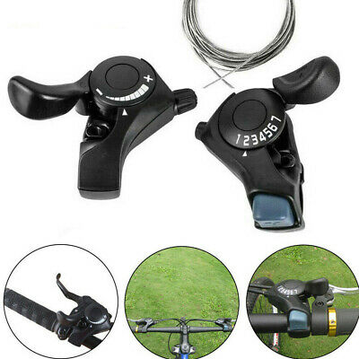 SL-TX30 3/6/7/18/21 Speed MTB Mountain Bike Thumb Gear Shift Lever Set~~ • 7.62£