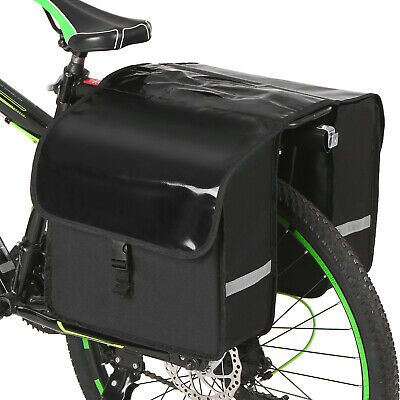 Double Panniers Bag Saddle Bike Bicycle Cycling Rear Seat Trunk Rack Pack L9C9 • 9.69£