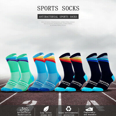 DH Sports Bicycle Cycling Socks Breathable Outdoor Sports Mid Calf Socks • 5£