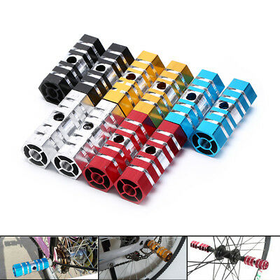 2PCS Bike Pedals Aluminum Alloy Axles BMX Pedal Bicycle Stunt Foot Pegs ZPHW  Qo • 4.38£