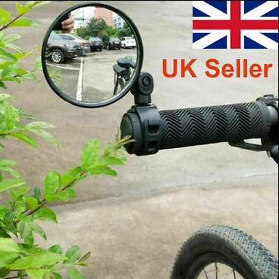360° Rotate Bike Bicycle Cycling Side Rear View Handlebar Rearview Mirror UK • 2.99£