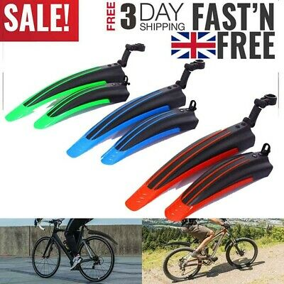 MTB Mudguard Set Mountain Bike Bicycle Fender Front & Rear RideGuard UK SELL • 4.99£