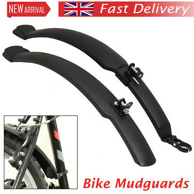"Plastic Cycle 26"" Mudguards Front & Rear Mountain Bike/bicycle Mud Guards Set UK • 6.39£"