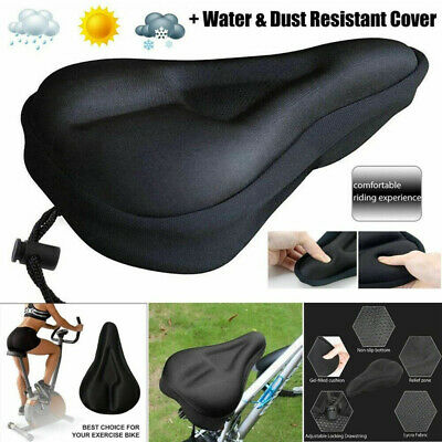 Bike Bicycle Cushion Seat Cover 3D Gel Saddle Pad Padded Soft Extra Comfort UK • 3.49£