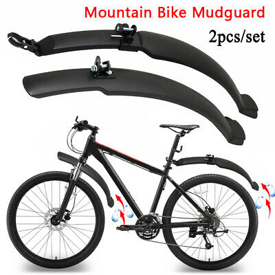 Mountain Bike Mudguard 26'' Bicycle Cycling Front Rear Mud Guards Fenders Set • 6.15£