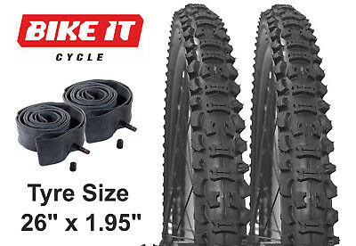 MOUNTAIN BIKE TYRE 26  X 1.95 - BICYCLE TYRES INNER TUBES, PAIRS & BUNDLED DEALS • 26.99£