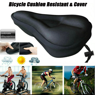 Bicycle Seat Saddle Cover Extra Comfort Padding Soft Gel Cushion For Seat Bike • 1£