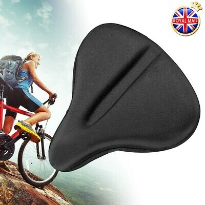 1PCS Exercise Bike Seat Gel Cushion Cover For Large Wide Bicycle Saddle/Pad UK • 12.98£