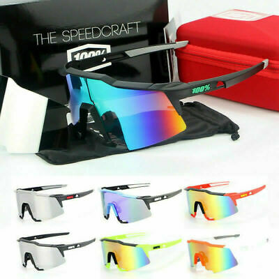 100% Goggles Cycling Glasses Half Frame Sports Windproof Dazzling • 14.99£