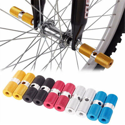 BMX Bicycle Cycle Bike Stunt Pegs Alloy Anodised Colour Wheel Tyre- • 6.52£