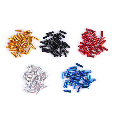 X10 Alloy Bike Cable End Caps Crimps Tips Ferrules For All Bikes & Cycles • 2.99£