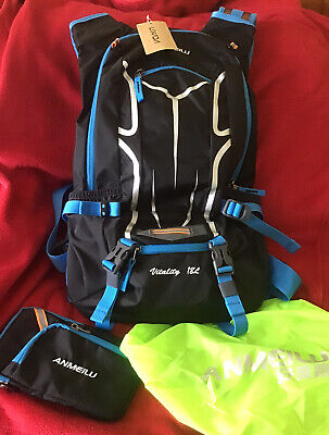 Anmeilu Vitality 18l Airflow Backpack , Pouch & Cover . Cycling / Hiking . BNWT • 5.99£