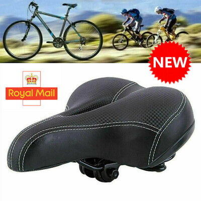 Universal MTB Extra Wide Comfort Cushioned Bike Seat Soft Pad Bicycle Gel Saddle • 8.99£
