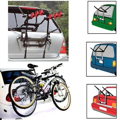 3 Cycle Bicycle Bike Car Carrier Rack Universal Fitting Saloon Hatchback Travel- • 24.99£