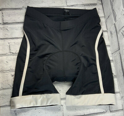 Crane Cycling Shorts  With Seat Pad Size Small Black And White  Made In Italy • 9.25£