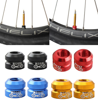 Bike Presta Valve Inner Tube Locking Nuts Bike Caps Tyre Valve Mount Caps MTB • 3.99£