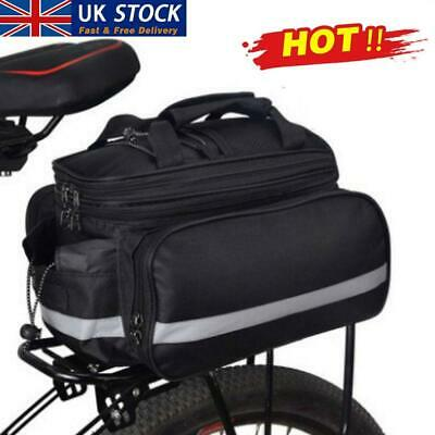 Bicycle Bike Cycle Rear Rack Bag Removable Carry Carrier Saddle New Bag Pannier • 8.52£
