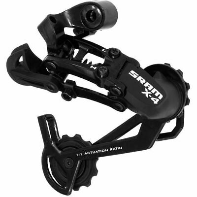 SRAM X4 Rear MTB Mountain Bike Mech Derailleur 7 / 8 Speed In Black Long • 20.57£