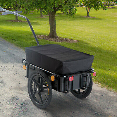 Cargo Trailer Bike Bicycle Carrier Utility Luggage Cart Garden Trolley Wheels • 69.99£