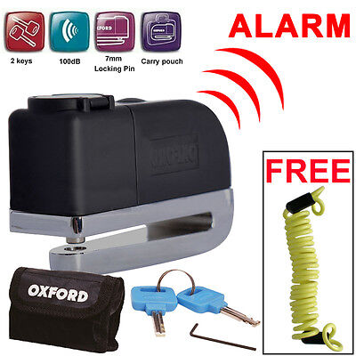 Oxford OF229 Screamer Alarm Disc Lock Motorbike Motorcycle Brake Lock + Reminder • 23.59£