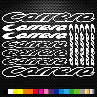 Compatible Carrera Vinyl Decal Stickers Sheet Bike Frame Cycle Cycling Bicycle  • 3.88£