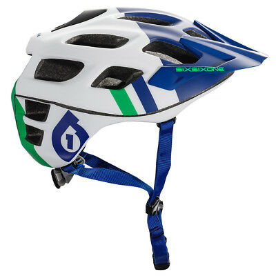 661 Sixsixone Recon Mtb Mountain Bike Cycling Helmet - Blue / Green • 39.95£