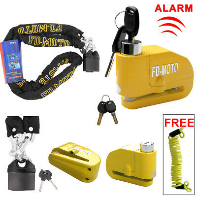 1.2M Motorcycle Motorbike Chain Lock Scooter Alarm Brake Disc Lock Security • 28.95£