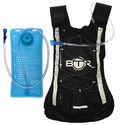 BTR Hydration Backpack Pack & Water Bag Bladder For Cycling, Hiking & Running  • 18.99£