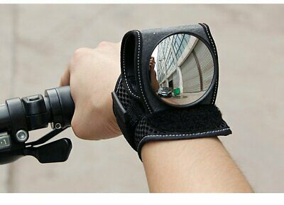 Cycling Bicycle Bike Wrist Rearview Mirror Guards Wristbands Back Eye Black UK • 7.48£
