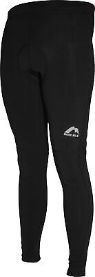 More Mile Winter Mens Cycling Tights Black Padded Thermal Fleece Bike Cycle Ride • 17.99£