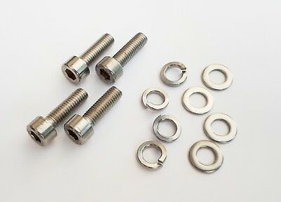 Cycling, Bike Bottle Cage Allen Head Bolts, Carrier. 4 Pack Stainless Steel • 2.50£
