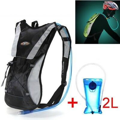 Rucksack Backpack 2L Water Bladder Bags Hydration Pack Camelbak Cycling Running • 18.99£