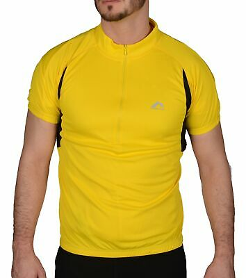 More Mile Summer Mens Cycling Jersey Half Zip Short Sleeve Bike Cycle Ride Top • 9.89£