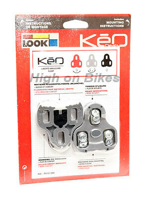 Look Keo Cleats Road Bike Clipless Pedal Cleats - Grey • 12.99£