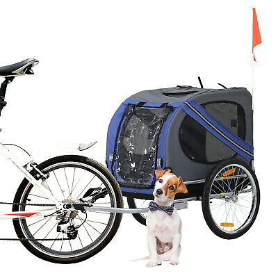 Pet Bicycle Trailer Dog Cat Bike Carrier Water Resistant Blue Outdoor • 79.99£