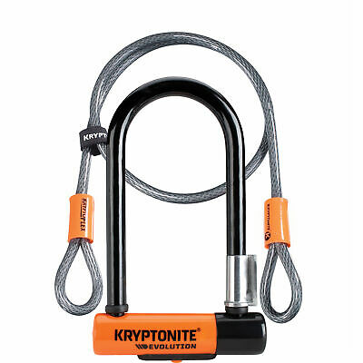 Kryptonite Evolution Mini Bike/Cycle 7 D-Lock With 4 Foot Cable • 41.67£