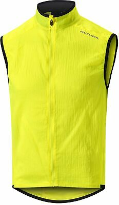 Altura Airstream Mens Cycling Gilet Yellow Reflective Windproof DWR Packable • 32.99£