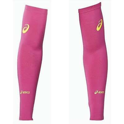 Asics Motiondry Compression Arm Warmers Pink Running Sleeves Mens Womens S - XL • 10.99£