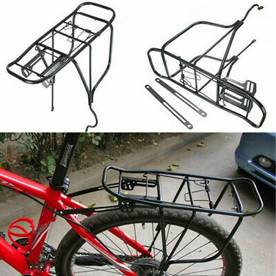 New Alloy Rear Bicycle Pannier Rack Carrier Bag Luggage Cycle Mountain Road Bike • 10.89£