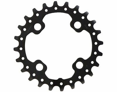 Shimano Deore FC-M617 64mm BCD 4 Arm Inner Steel MTB Chainring 24T Black • 8.79£