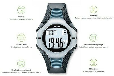 Beurer Pm 26 - Heart Rate Monitor With Belt Pectoral, Waterproof 50 M, Black • 23.98£