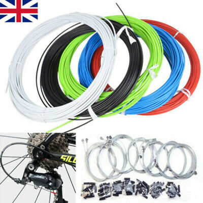 MTB Mountain Bike Bicycle Front & Rear Inner Outer Wire Gear Brake Cable Set UK • 6.58£